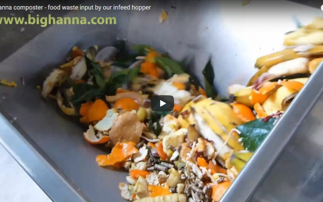 Food waste input by our infeed hopper