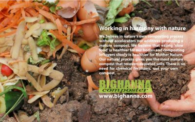 Big Hanna composter, working in harmony with nature